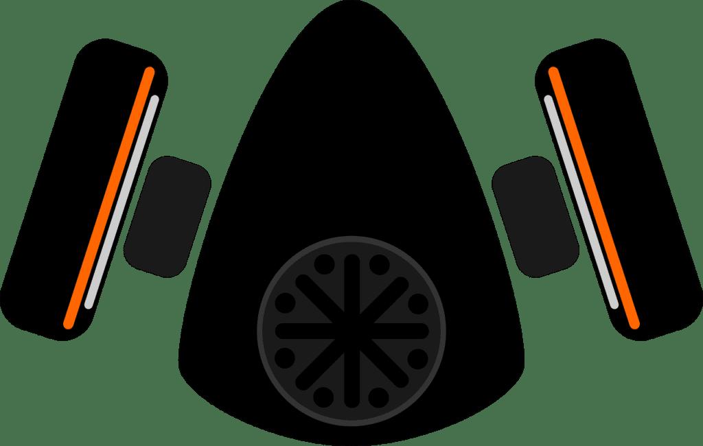 Een plaatje van een gasmasker tegen gevaarlijke stoffen