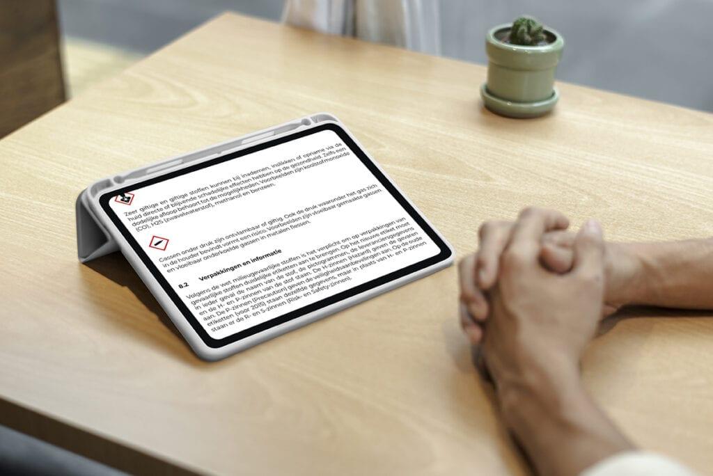 E-learning voor VCA op een iPad